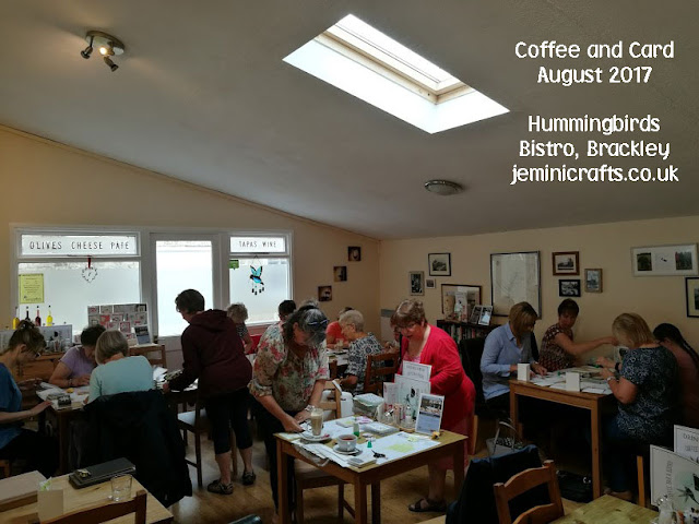 www.jeminicrafts.co.uk for weekly Coffee and Card sessions
