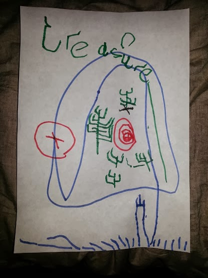 Them And Ask To Draw My 5 Year Old Brought Home A Treasure Map He Had Drawn At School It Was Perfect This Is The Image That I Emailed Over