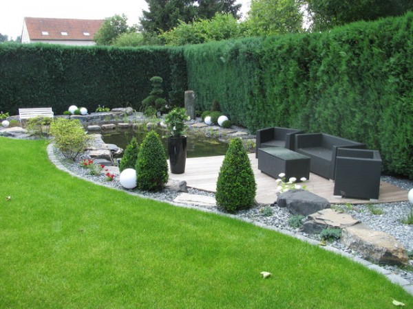 Japanese home garden design for Gartenideen modern