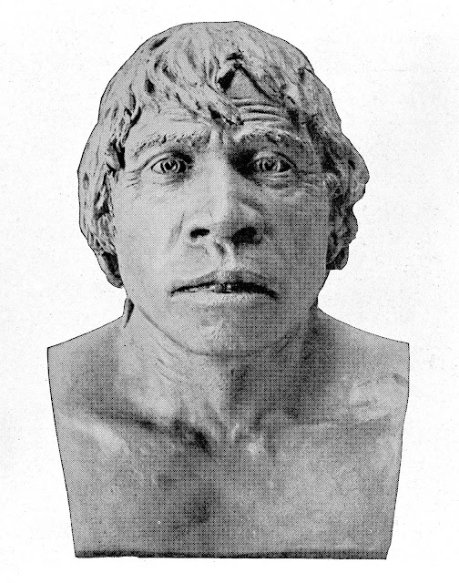 Piltdown Man is a disgusting fake reconstructed in clay.