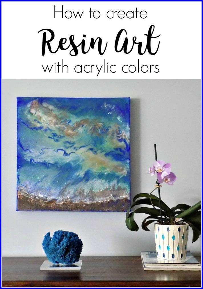 Ζωγραφική με υγρό γυαλί και ακρυλικά χρώματα