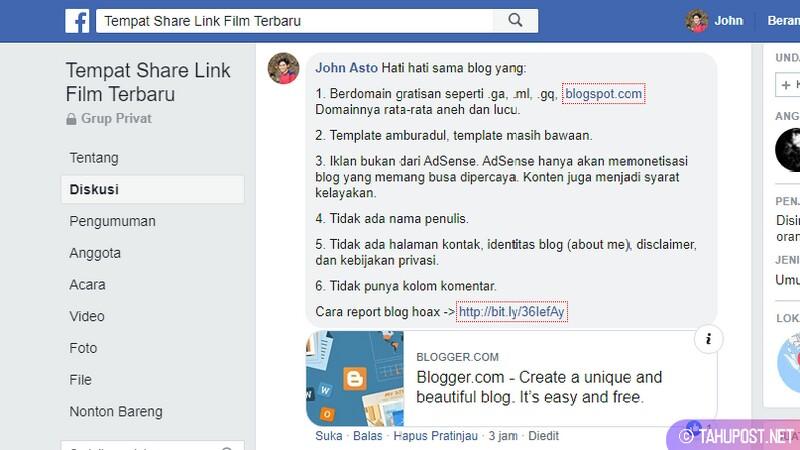 Jangan Terlalu Sering Membagikan Link