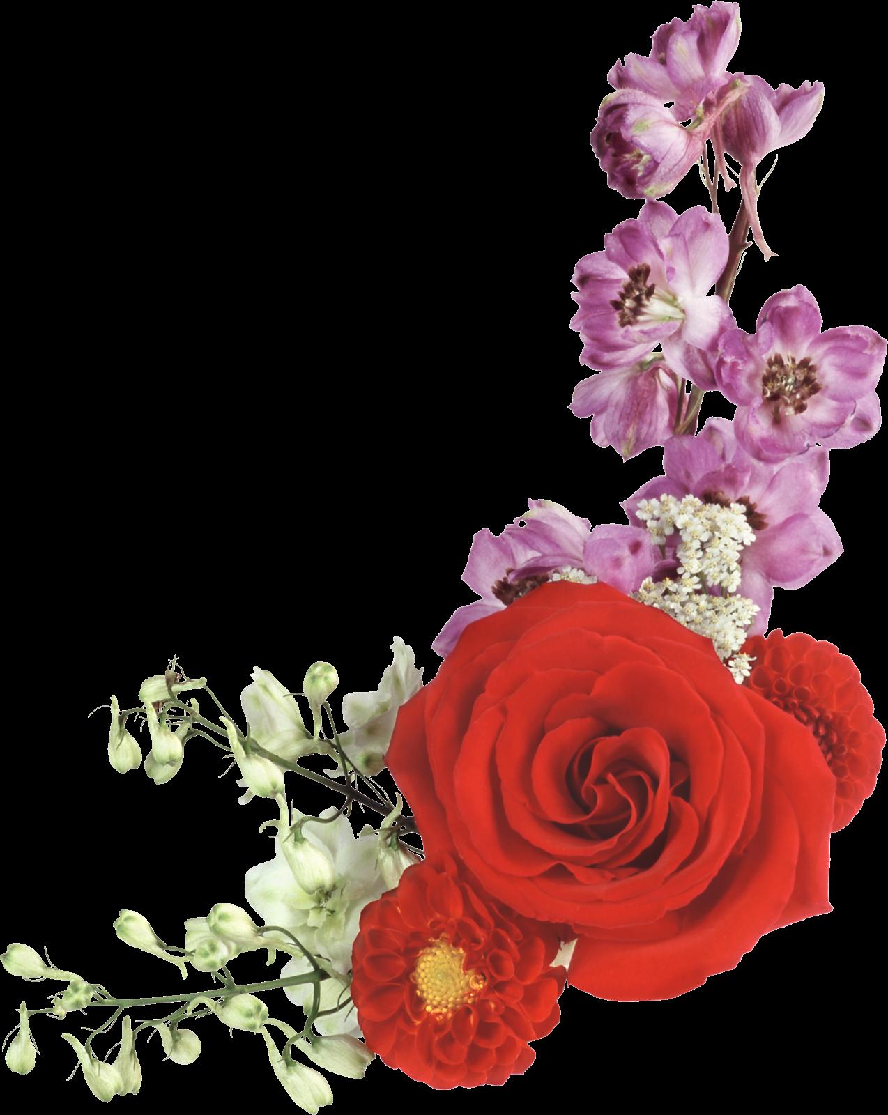 Вставить цветок на открытку