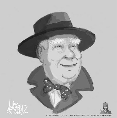 mike spicer cartoonist caricaturist clarence odbody angel