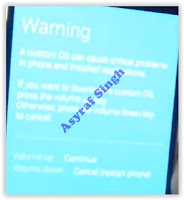 warning message - download mode samsung galaxy s6