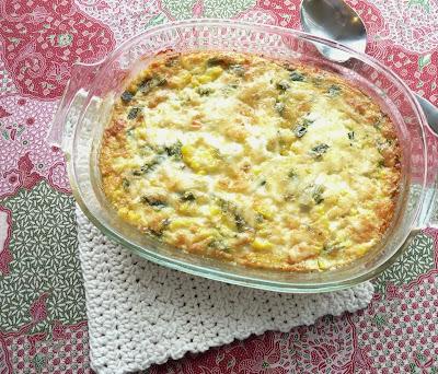 Cheesy Corn & Poblano Chile Pudding