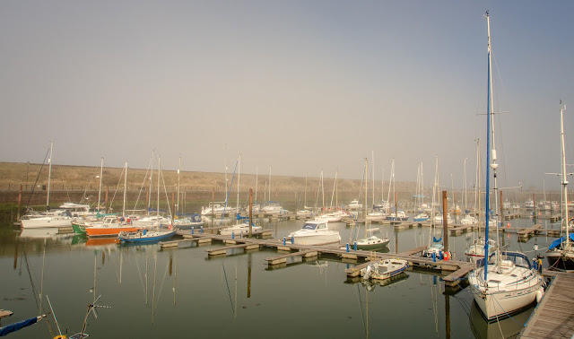 Photo of Monday morning mist at Maryport Marina