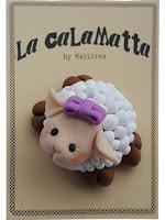 calamita fimo pecorella