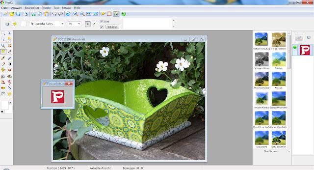 Screenshot PhoXo mit zwei geöffneten Dateien
