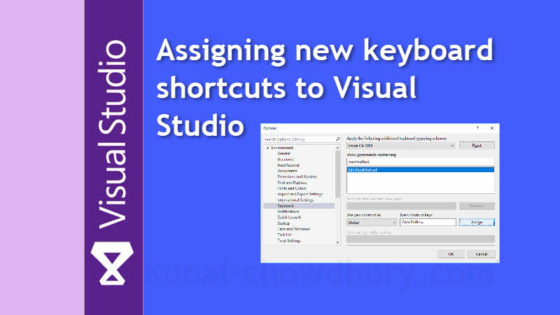 Visual Studio Productivity Tips: Assigning keyboard shortcuts to Visual Studio commands
