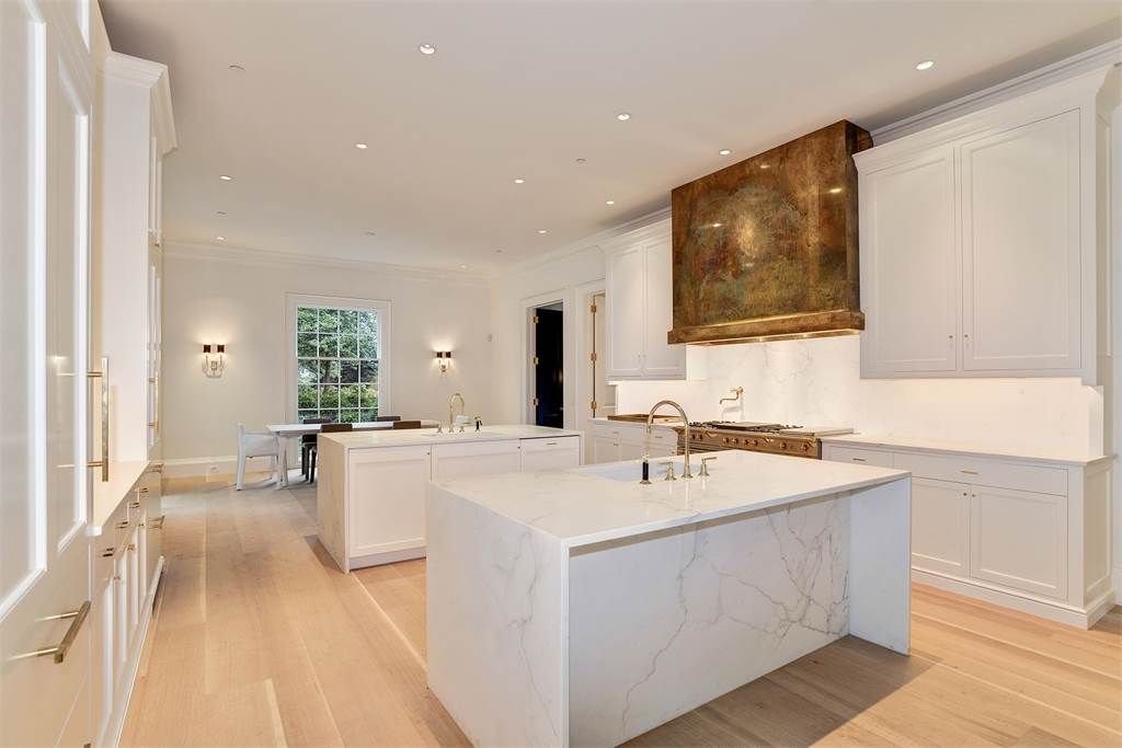Kitchen Washington DC luxury house marble island mansion Kalorama regency style limestone