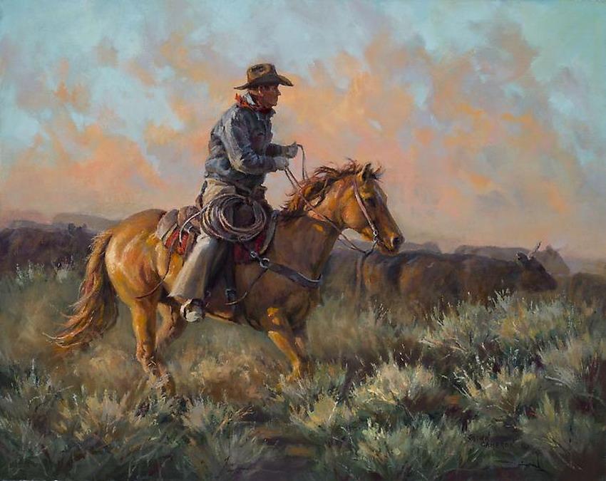 """Imágenes Arte Pinturas: """"vaqueros En Paisajes"""" Pinturas"""