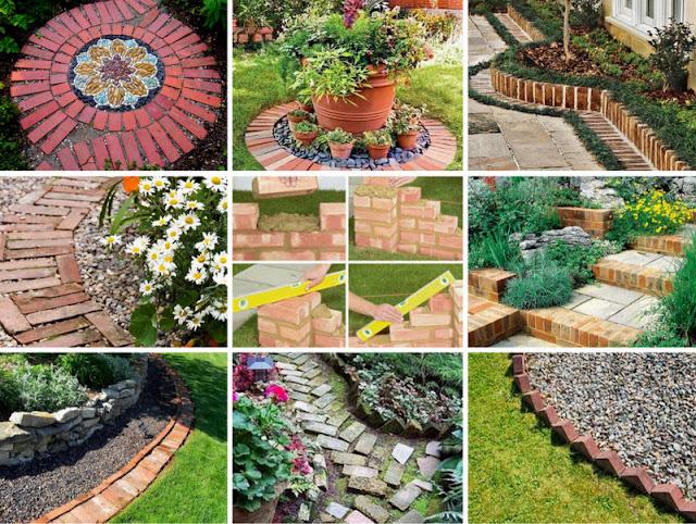 Κατασκευές με τούβλα για κήπους - αυλές