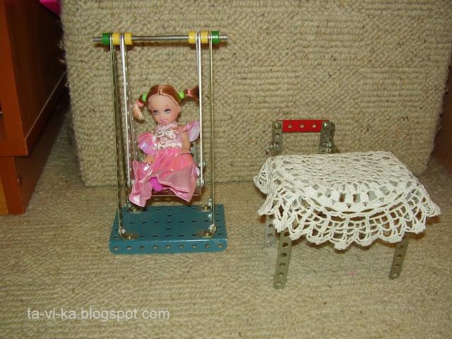 кукольная мебель из железного конструктора
