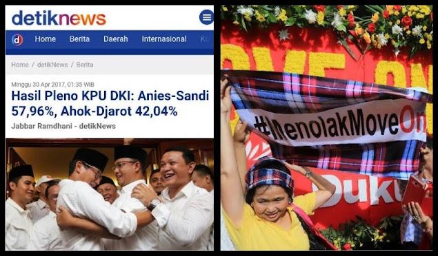 KPU Sudah Umumkan Hasil Pilkada DKI, Anies-Sandi Tetap Menang, Karangan Bunga Gak Ngaruh, MOVE ON DONG COY!