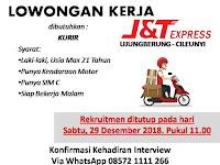 lowongan kerja KURIR J&T Express Bandung