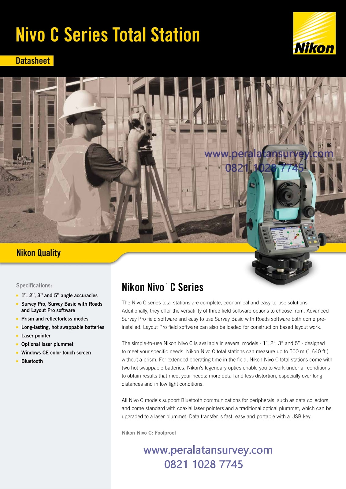 Brosur Total Station Nikon Nivo C Series