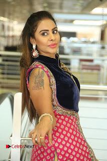 Telugu Actress Sri Reddy Mallidi Stills in White Beautiful Dress at Marriage Needs Bridal Fashion Week 2017 Logo Launch  0111.JPG