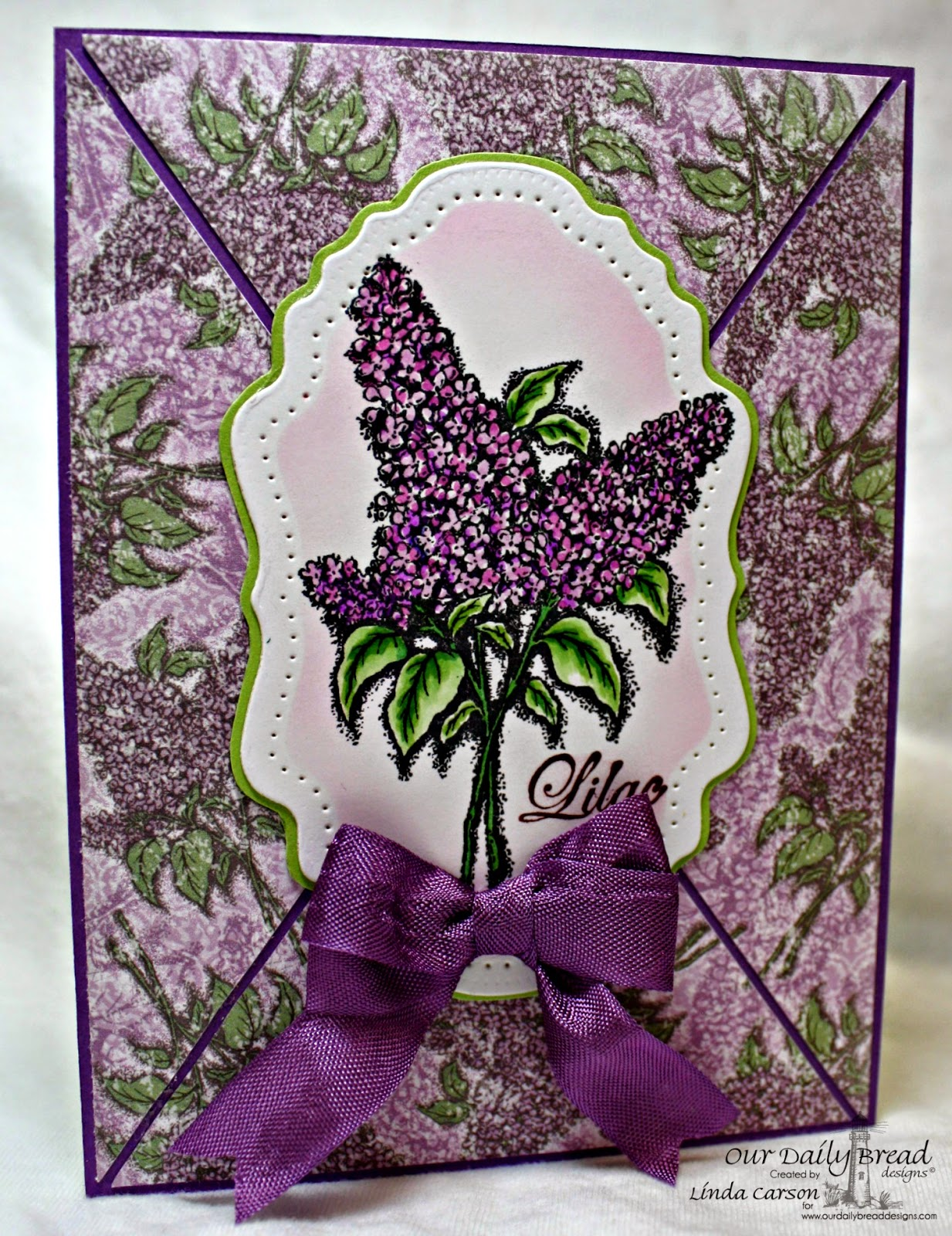 Stamps - Our Daily Bread Designs Lilac, ODBD Custom Vintage Flourish Pattern Die, ODBD Blooming Garden Paper Collection