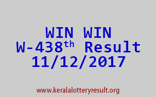 WIN WIN Lottery W 438 Results 11-12-2017