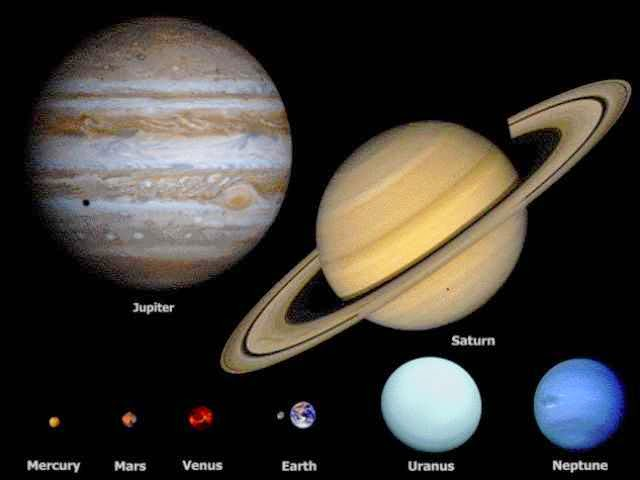 The Size Of Space As Depicted Here Is Truly Mind-Blowing - Jupiter and Saturn say hello.