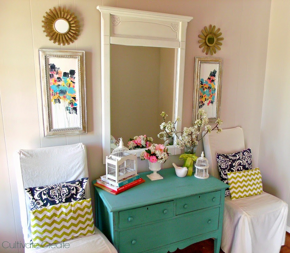 Frugal Home Decor: Cultivate Create: Frugal Spring Decor: Shop Your Home
