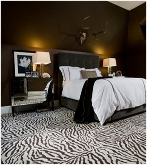 Home Decor Idea: zebra print bedroom decor