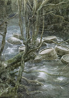 Barriles por el río