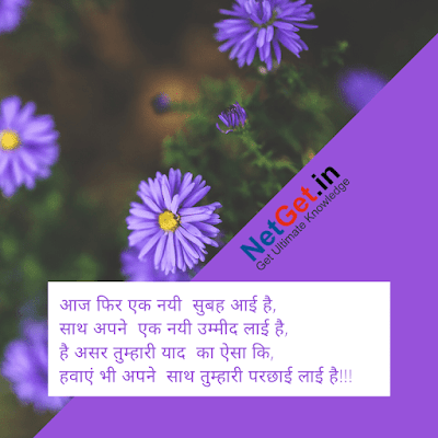 Good morning shayari in hindi, good morning shayari hindi