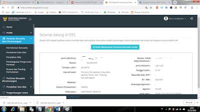 Update Data NIK Melalui Portal OSS Online Jadi Nomor Induk Berusaha (NIB)