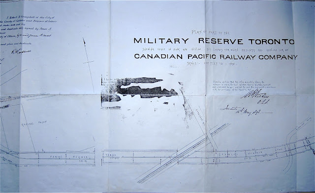 1898 Walker: Plan of Part of the Military Reserve . . . applied for by Canadian Pacific Railway Company, 2