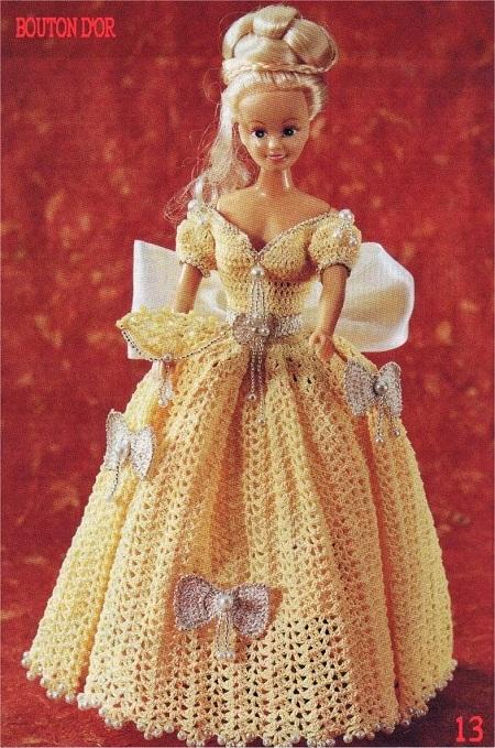 Barbie Crochê Miniaturas Artesanato e Coisas Mais: Vestido ...