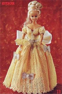 Vestido dA Bela e a Fera em Crochê Para Bonecas Passo a Passo 1