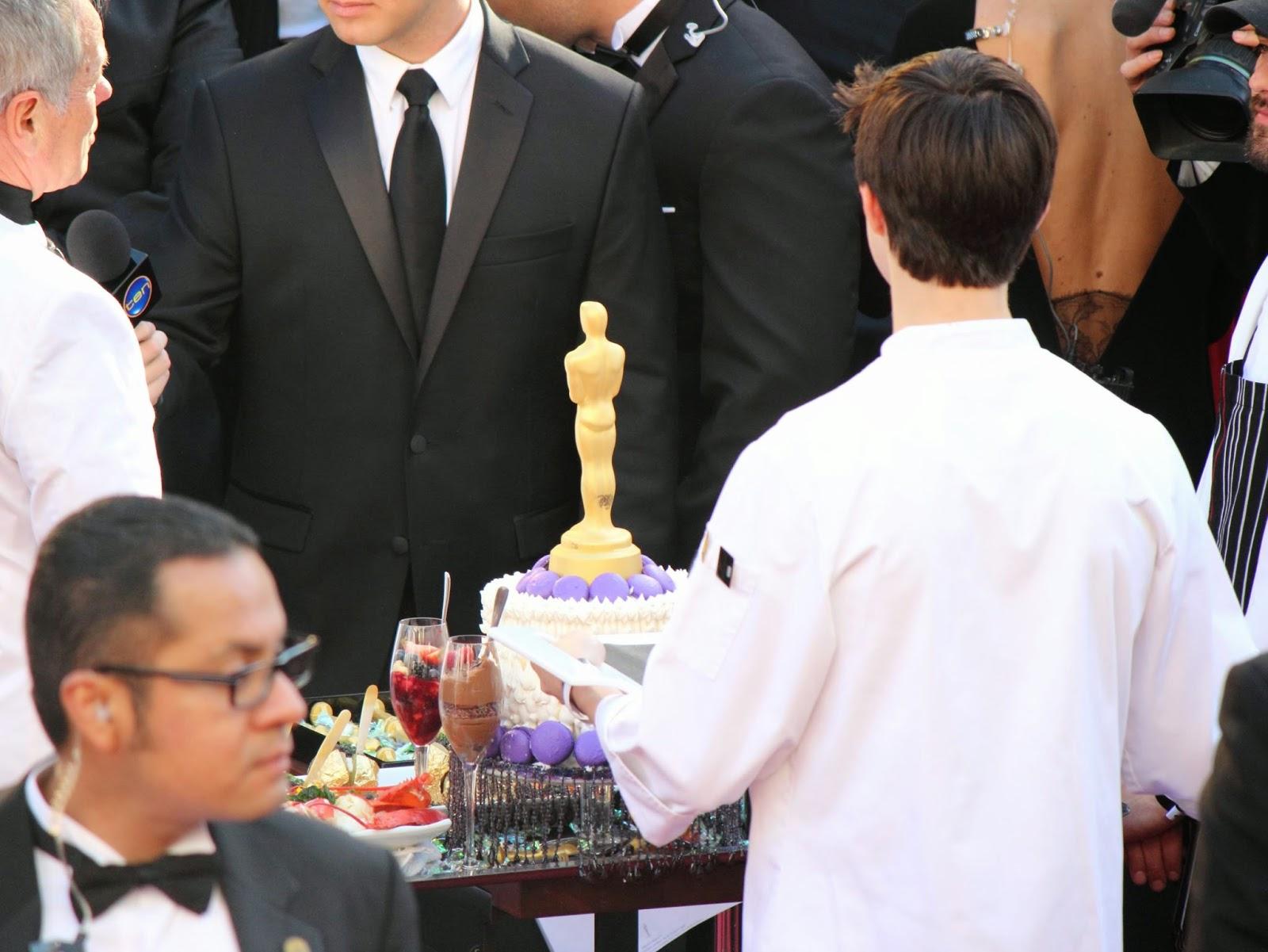 Oscar shaped desserts