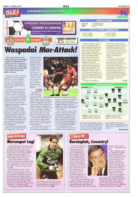 COVENTRY VS LIVERPOOL WASPADAI MAC-ATTACK