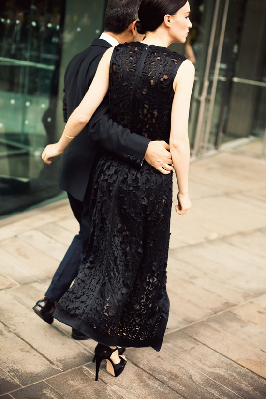 Rooney Mara in Black dress Calvin Klein