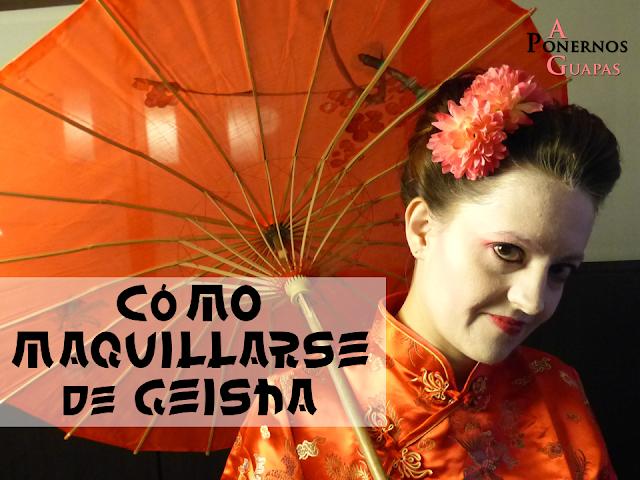 como maquillarse de geisha a ponernos guapas