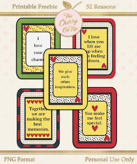 52 Reasons Free Printables