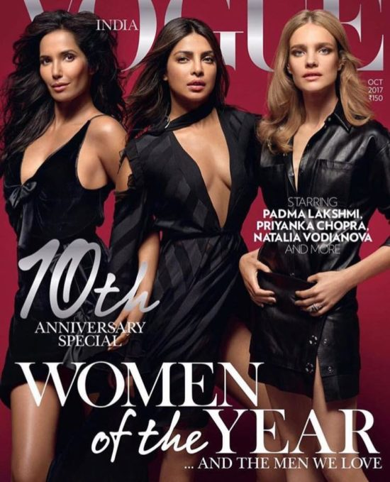 Priyanka Chopra On The Cover of Vogue Magazine India October 2017