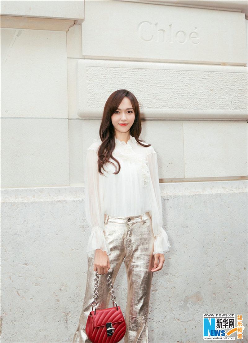 Tang Yan in Paris for fashion week