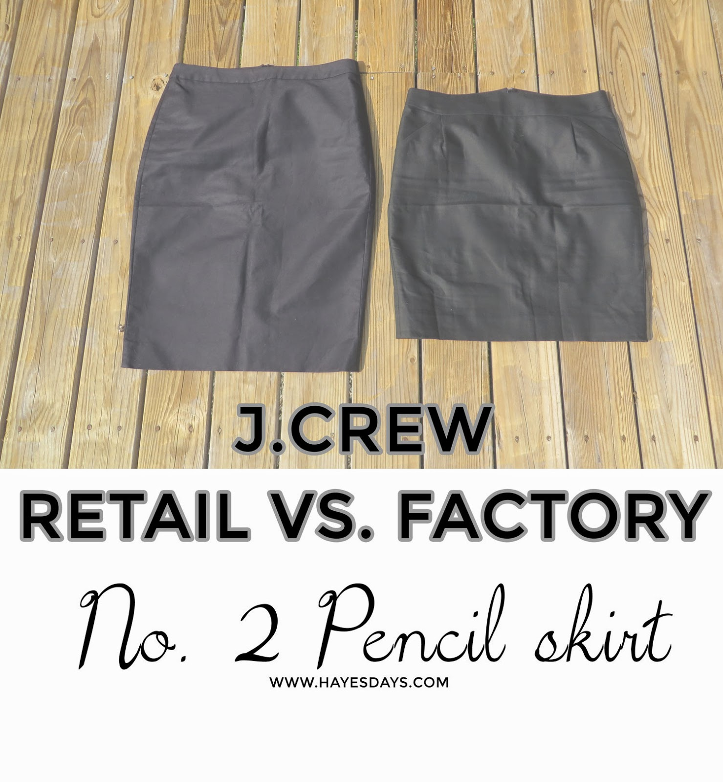 Style Day: Factory v. Retail:: J.Crew No. 2 Pencil Skirt