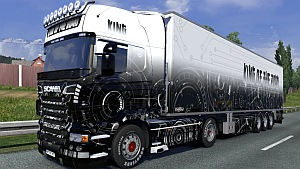 Scania R Tech skin and trailer mod