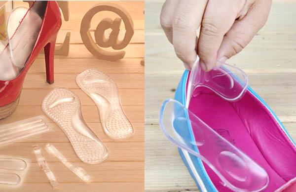 Memakai High Heels dengan gel cushion agar terasa lebih Nyaman