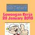 Lowongan Kerja 28 January 2018