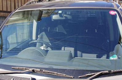フロントガラスの傷