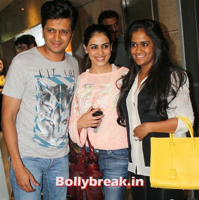 Ritesh Deshmukh, Genelia D'Souza and Arpita Khan, Bollywood Celebs at Jai Ho Special Screening