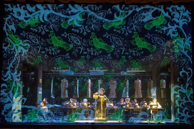 Rimsky Korsakov - The Snow Maiden - Opera North - Yvonne Howard, Aoife Miskelly, chorus of Opera North - photo Richard Hubert Smith