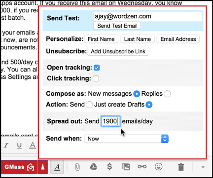 You can now send 10,000 emails with GMass and Gmail [Updated 2018]