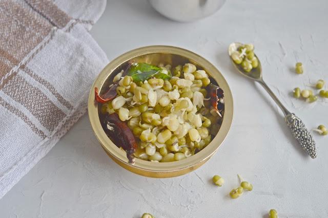 Green Gram Sprouts Sundal Recipe