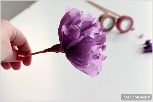 Making Flowers Of Thin Papers With Instructional Pictures And Steps 5